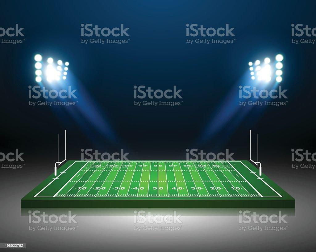 American Football field, vector vector art illustration