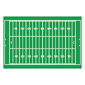 American Football Field with Line and Grass Texture