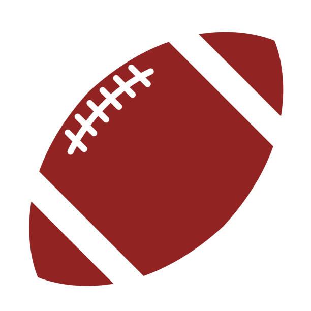 ilustraciones, imágenes clip art, dibujos animados e iconos de stock de ilustración plana de fútbol americano sobre blanco - american football
