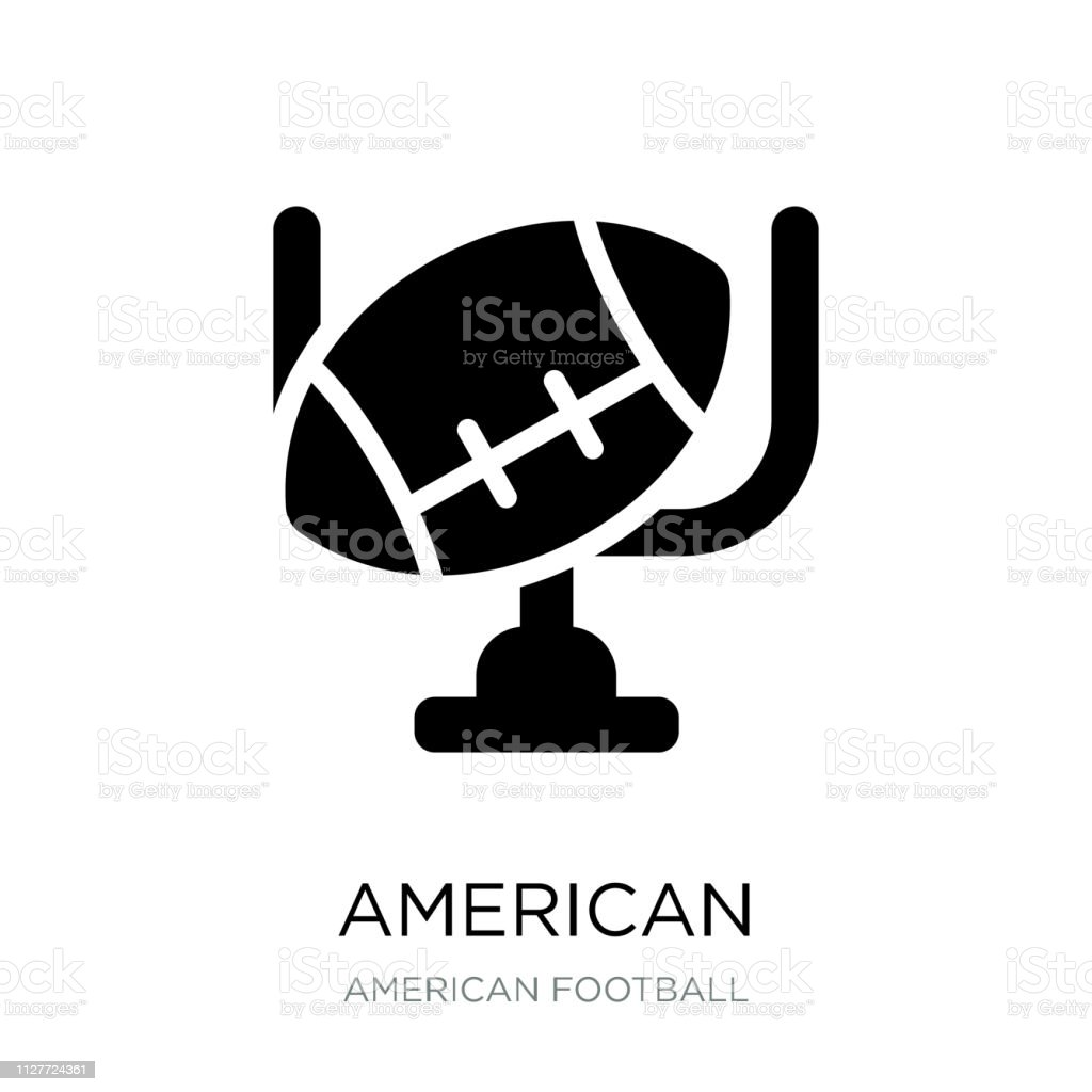 american football goal icon vector on white background, american...