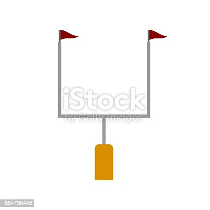 American football goal post isolated on white background