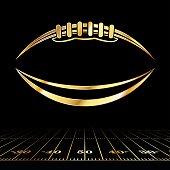 American Football Golden Icon