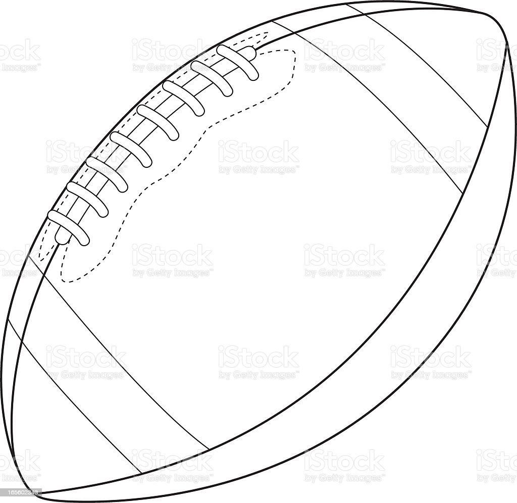 American Football Graphic royalty-free stock vector art