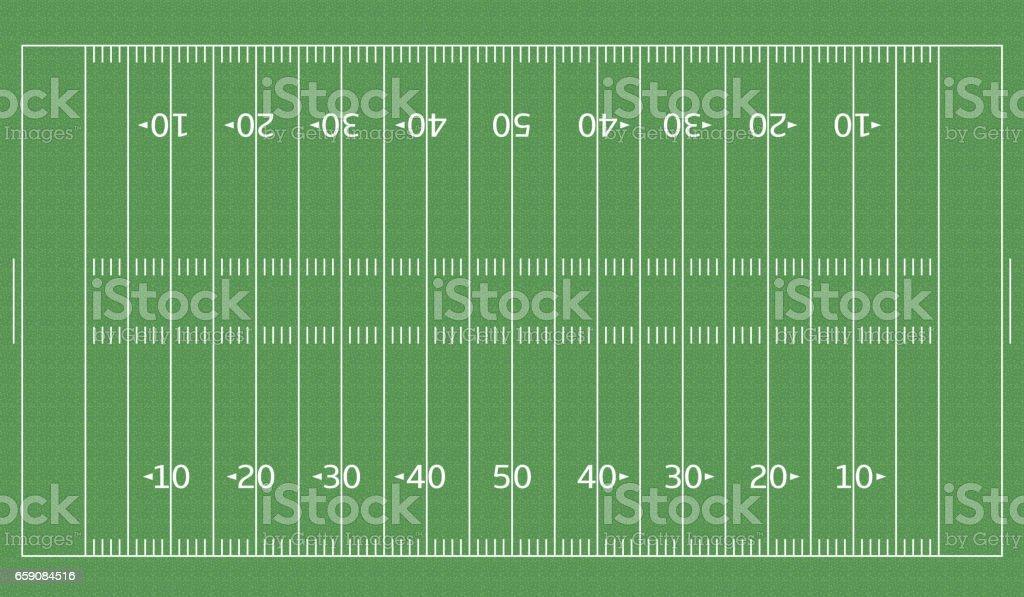 American Football green field2 vector art illustration
