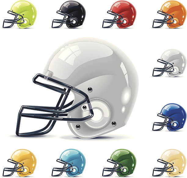 american football, grillrost helme - helm stock-grafiken, -clipart, -cartoons und -symbole