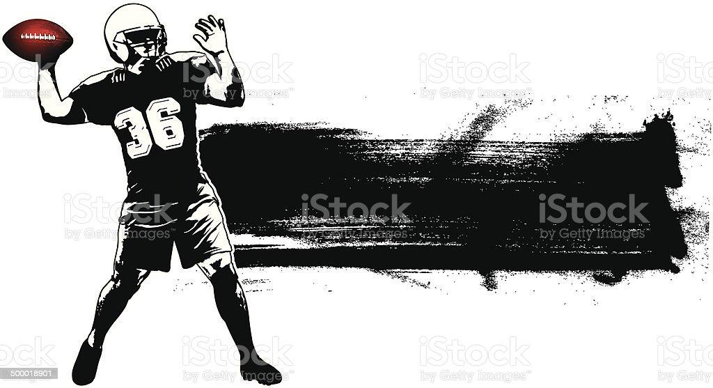 american football grunge banner vector art illustration