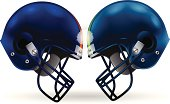 American Football Helmet Clash