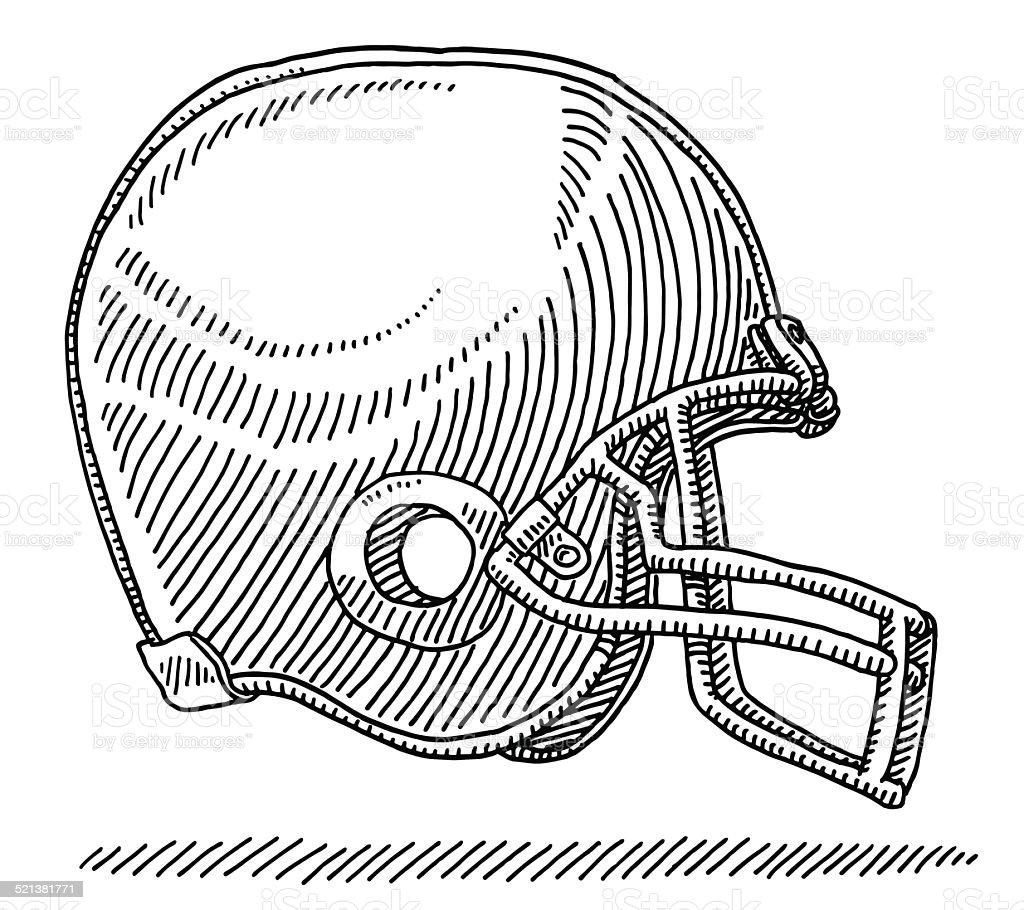 Casque de football am ricain de dessin vue de c t vecteurs libres de droits et plus d 39 images - Dessin football americain ...