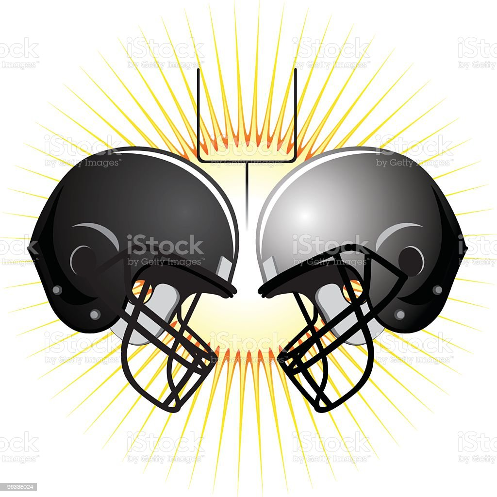 American Football Helmets royalty-free stock vector art