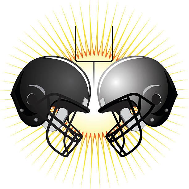 Amerykański Football Kaski – artystyczna grafika wektorowa