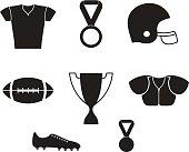 American football. Icon set