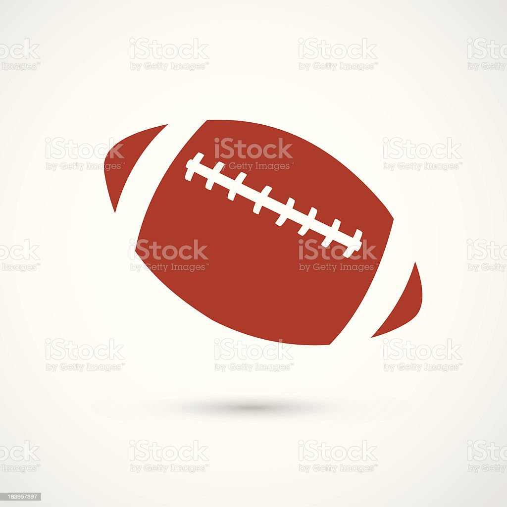 american football icon royalty-free stock vector art