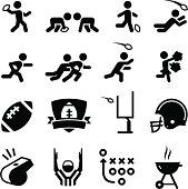 American Football Icons - Black Series