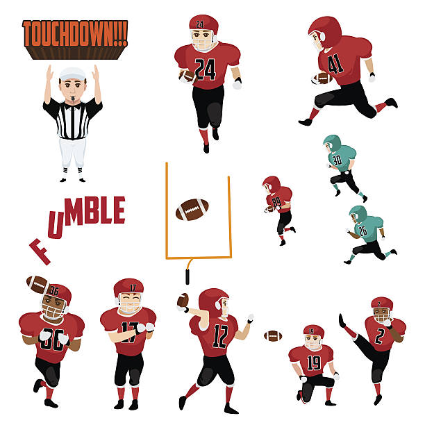 Royalty Free Man Throwing Football Clip Art Vector Images