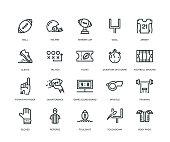 American Football Icons - Line Series