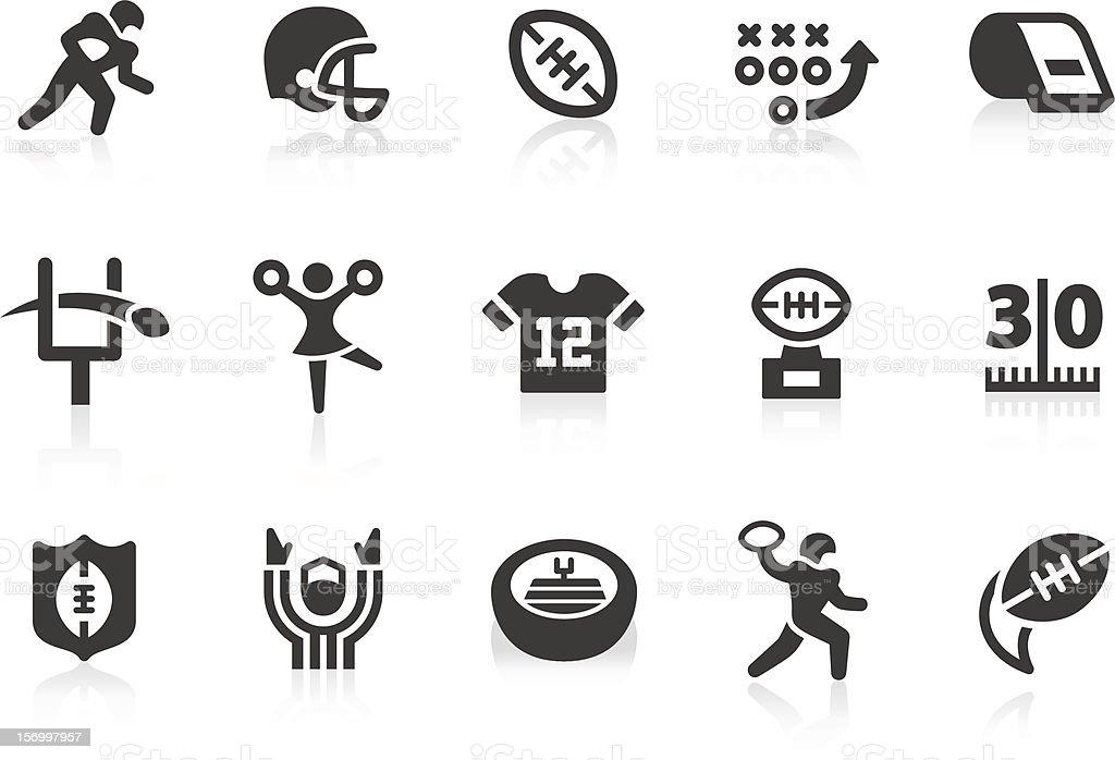 American Football icons royalty-free stock vector art