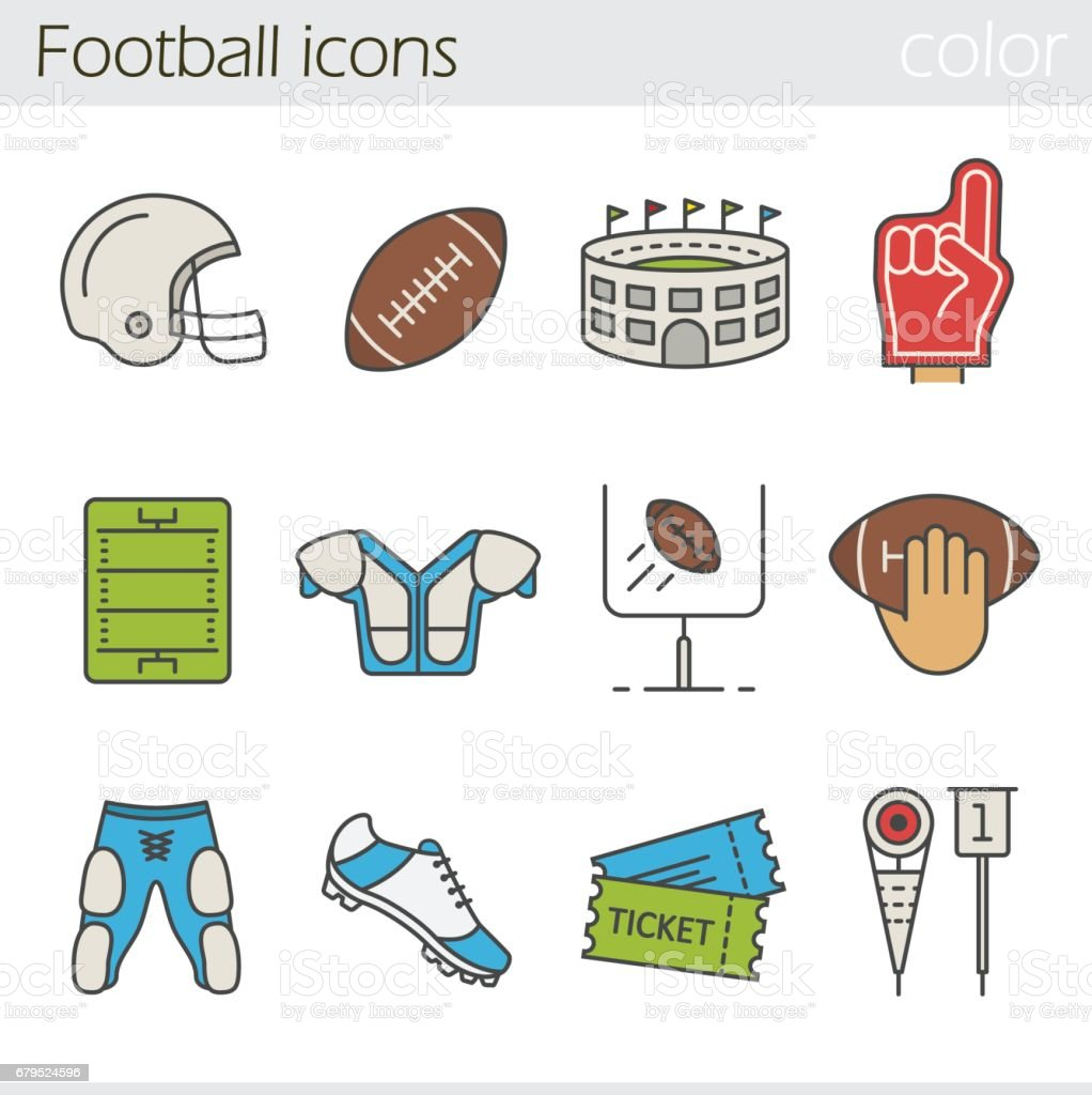 American football icons royalty-free american football icons stock vector art & more images of airplane ticket