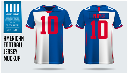 Download American Football Jersey Mockup Template Design For Sport ...
