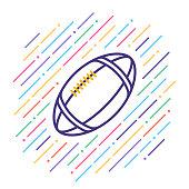 Line vector icon illustration of football.