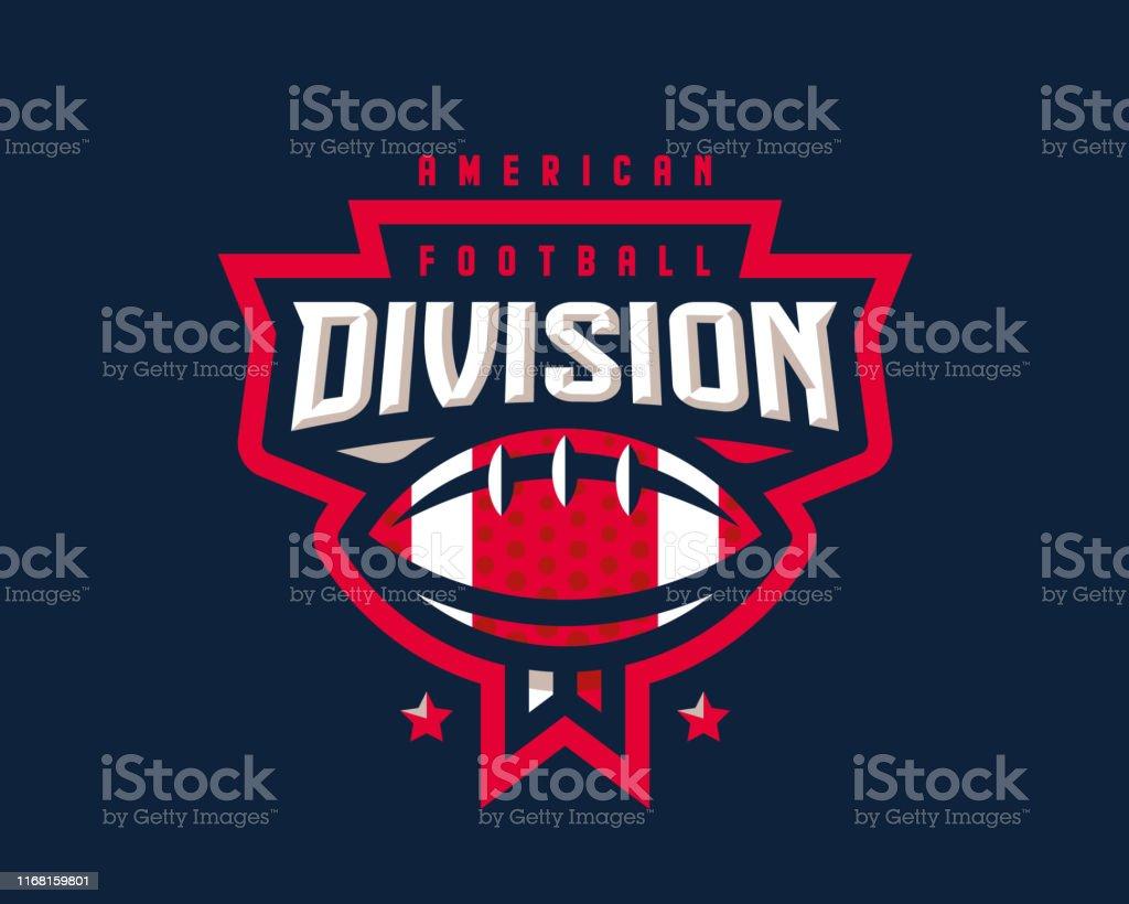 Projeto do logotipo do futebol americano. Molde do Tournament do emblema do rugby editable para seu projeto. - Vetor de Bola de Basquete royalty-free