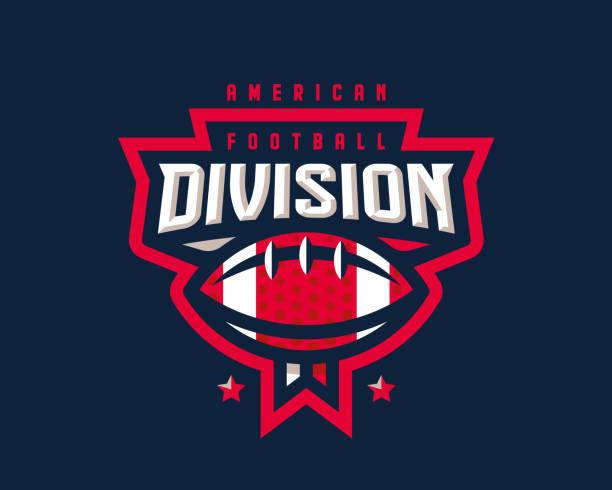 stockillustraties, clipart, cartoons en iconen met american football logo ontwerp. rugby embleem toernooi sjabloon bewerkbaar voor uw ontwerp. - kampioenschap