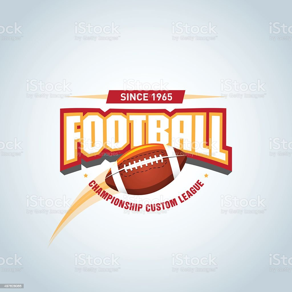 American football logo template, badge, t-shirt, label, emblem. vector art illustration