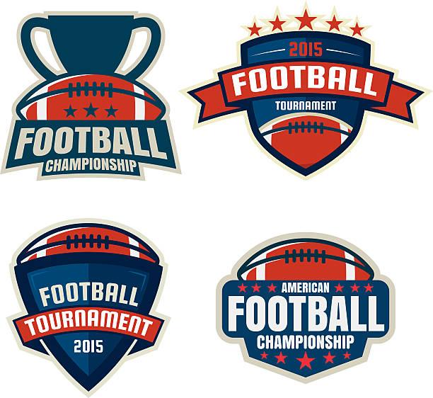フットボールのロゴのテンプレート、ベクトルイラストコレクション - アメリカンフットボール点のイラスト素材/クリップアート素材/マンガ素材/アイコン素材