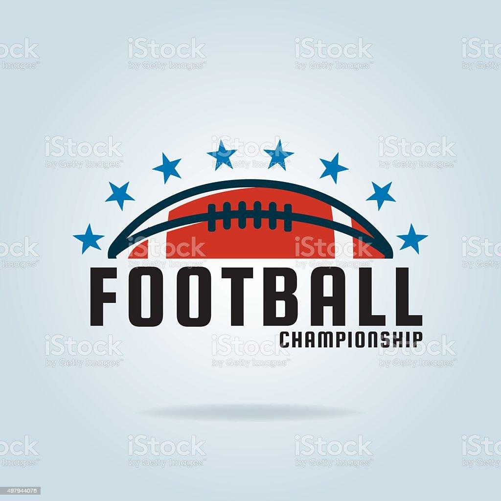Fútbol americano plantilla de logotipo, vector ilustración - ilustración de arte vectorial