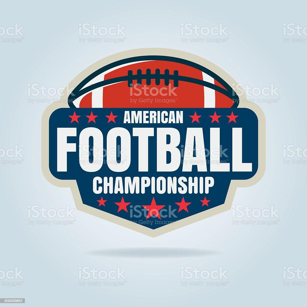 Futebol americano, ilustração do vetor logotipo modelo - Vetor de 2015 royalty-free