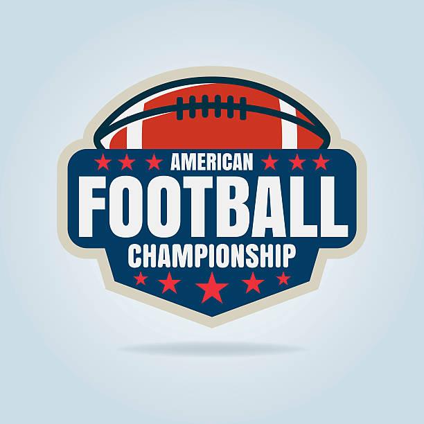 アメリカンフットボールロゴのテンプレート、ベクトルイラスト - アメリカンフットボール点のイラスト素材/クリップアート素材/マンガ素材/アイコン素材
