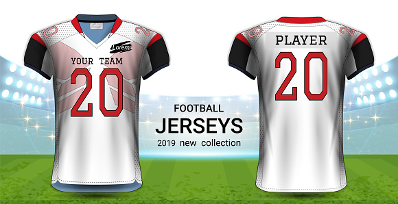Download American Football Or Soccer Jerseys Uniforms Realistic ...
