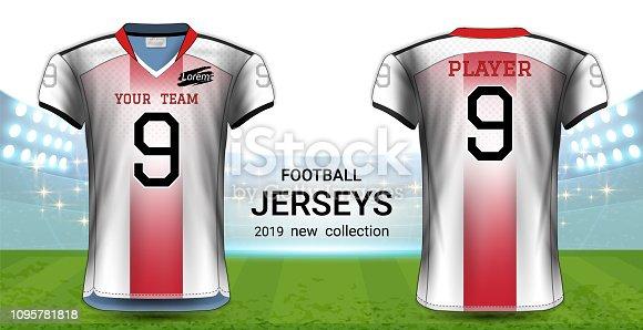 6f30acb9e Football Uniform Template Vector at GetDrawings.com