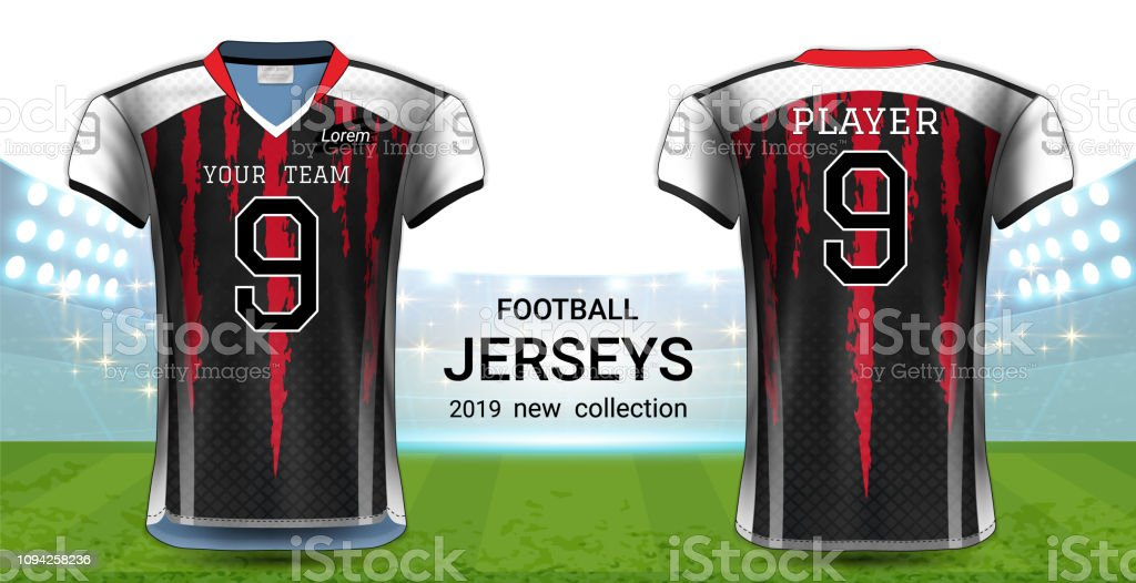 Download American Football Or Soccer Jerseys Uniforms Tshirt Sport ...