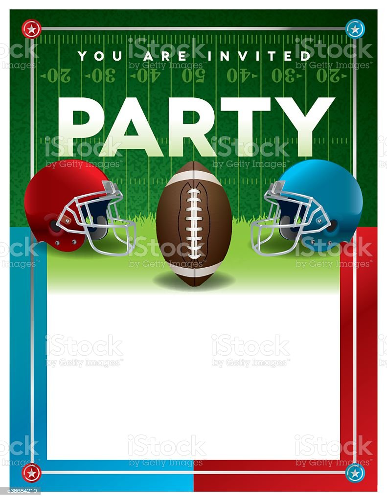 american football party flyer template stock vector art more images of american culture. Black Bedroom Furniture Sets. Home Design Ideas