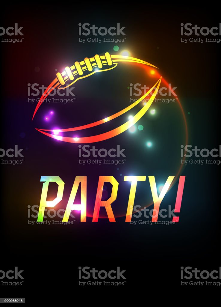 american football party template background illustration stock
