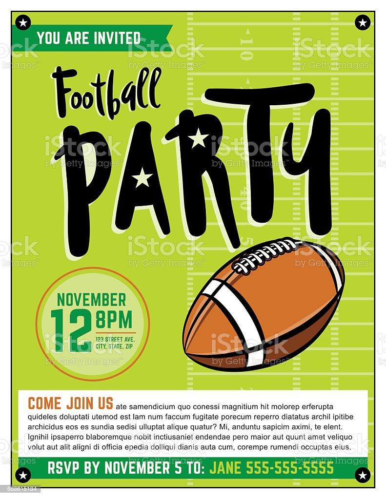 american football party template illustration stock vector art