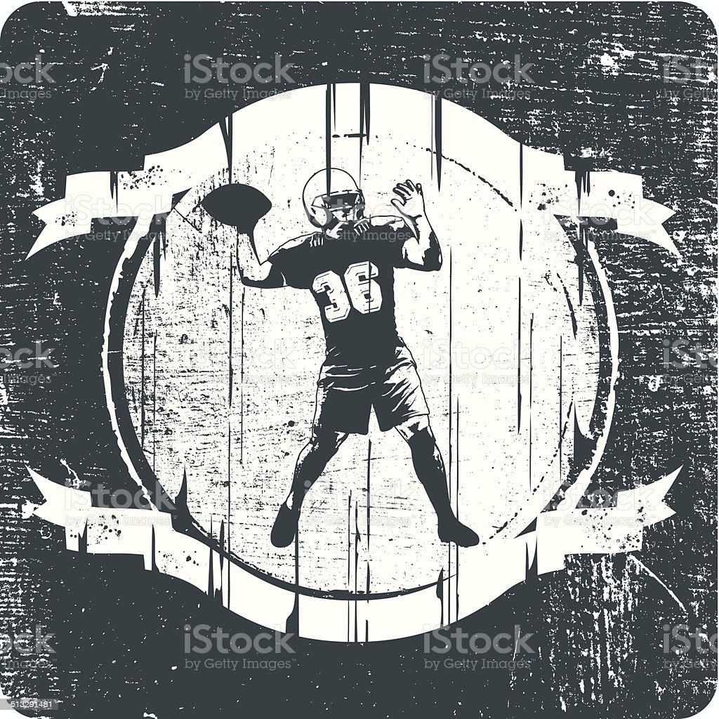american football passing vector art illustration