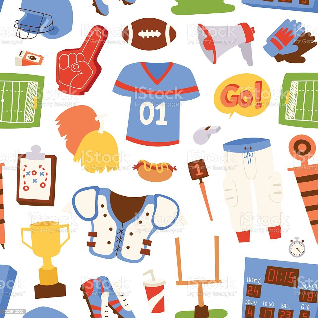 American football pattern vector illustration vector art illustration