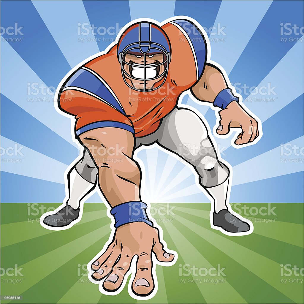 American football player royalty-free american football player stock vector art & more images of american football - sport