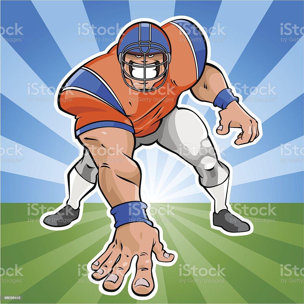 American football player royalty-free stock vector art