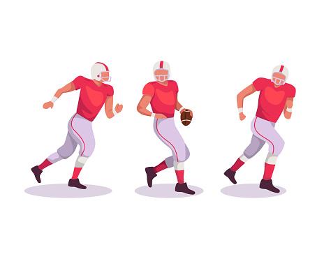 American football players illustration