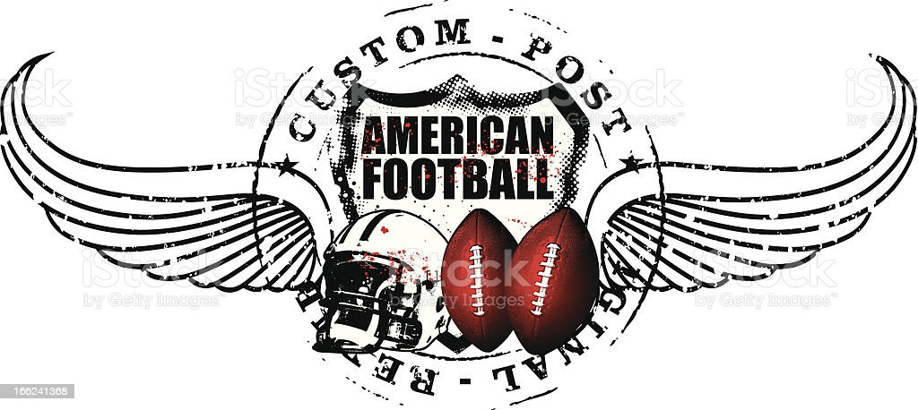 american football post with wings royalty-free stock vector art