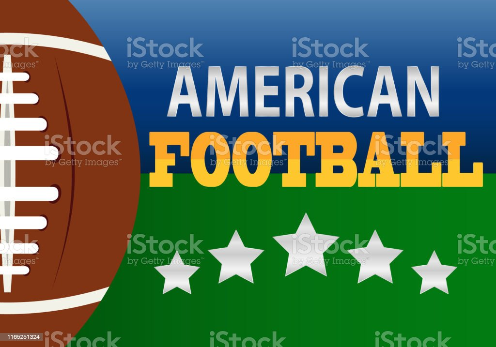 American Football Poster Banner Or Flyer Design American Football Logo Templatevector Illustration Sport American Football Logo Stock Illustration Download Image Now Istock