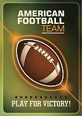 American football poster design.
