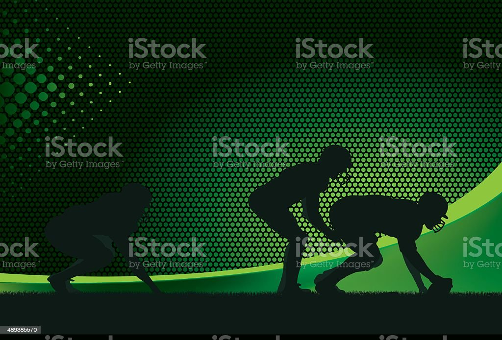 American Football Quarterback Background vector art illustration