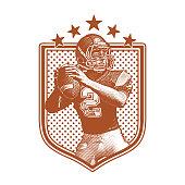 istock American Football Quarterback passing football, flat design 1061520104