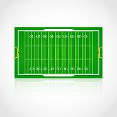 American football realistic, textured field