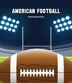 Illustartion of american football realistic theme eps 10
