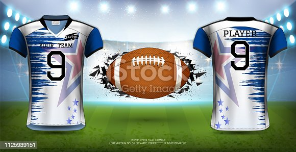 094a9142c85 Football Uniform Template Vector at GetDrawings.com