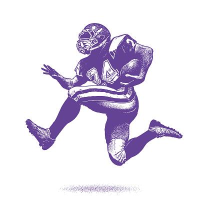 American Football Running Back